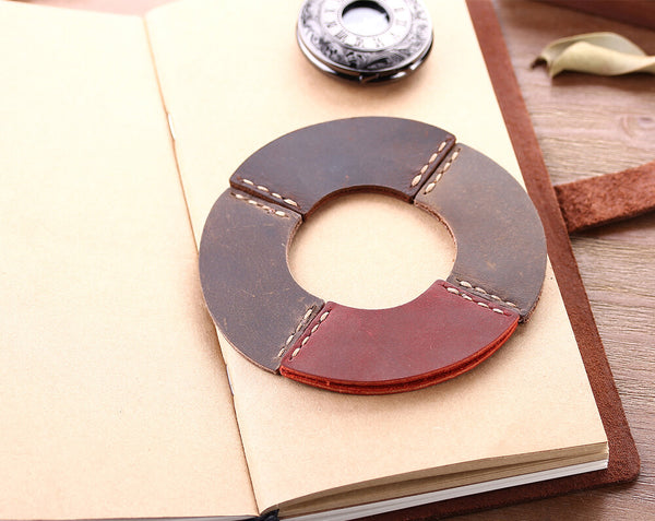 retro leather bookmark