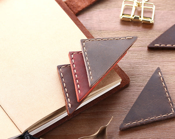 leather corner page bookmark
