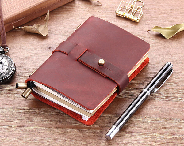 Engraved Leather Notebook