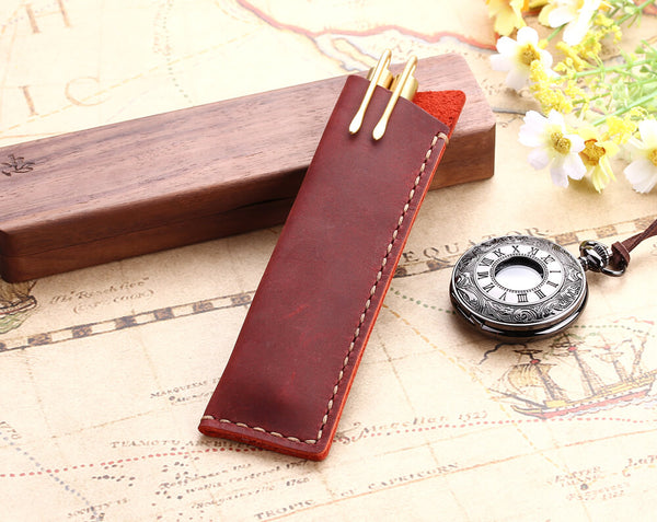 Leather pencil cases