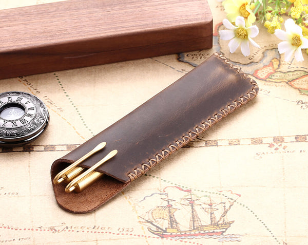 Genuine leather Pen Pouch Holder