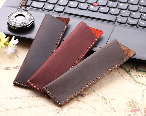 Hand-made antique leather pen bags