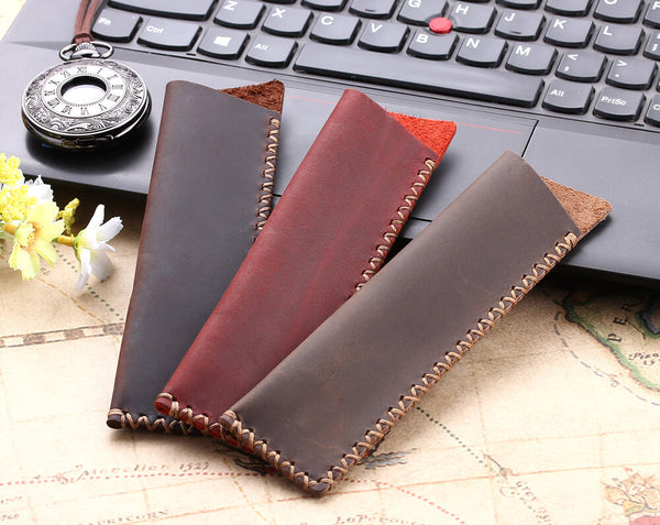 Hand-made leather pen bags