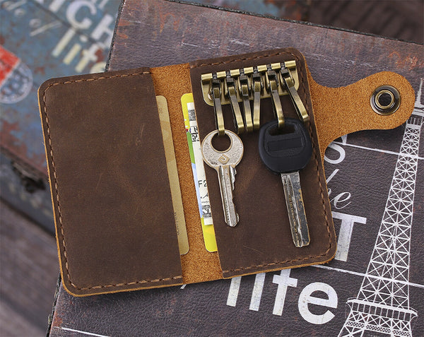 Personalized leather key case