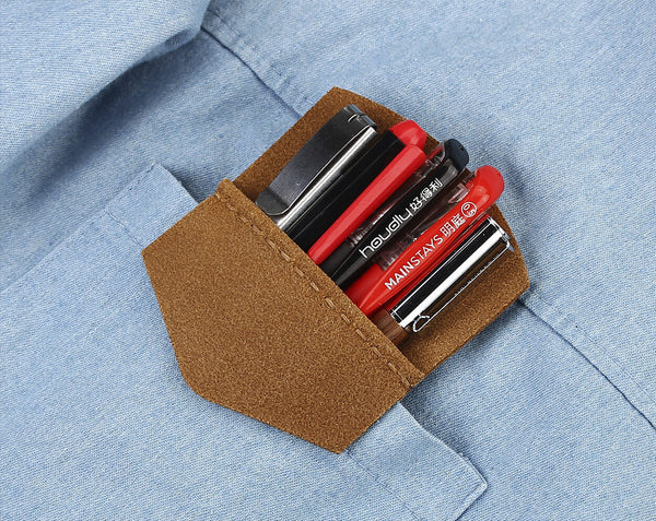 Personalzed Leather Pocket Protector