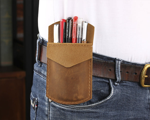 Personalzied Leather Pocket Protector