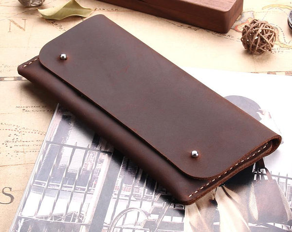 handmade antique genuine leather multi functional wallet