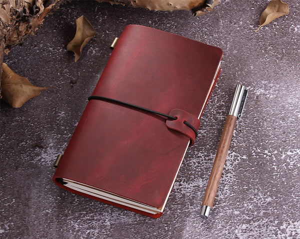 Personalized Leather Planner Notebook