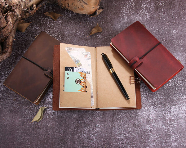 Leather Planner Agenda Notebook