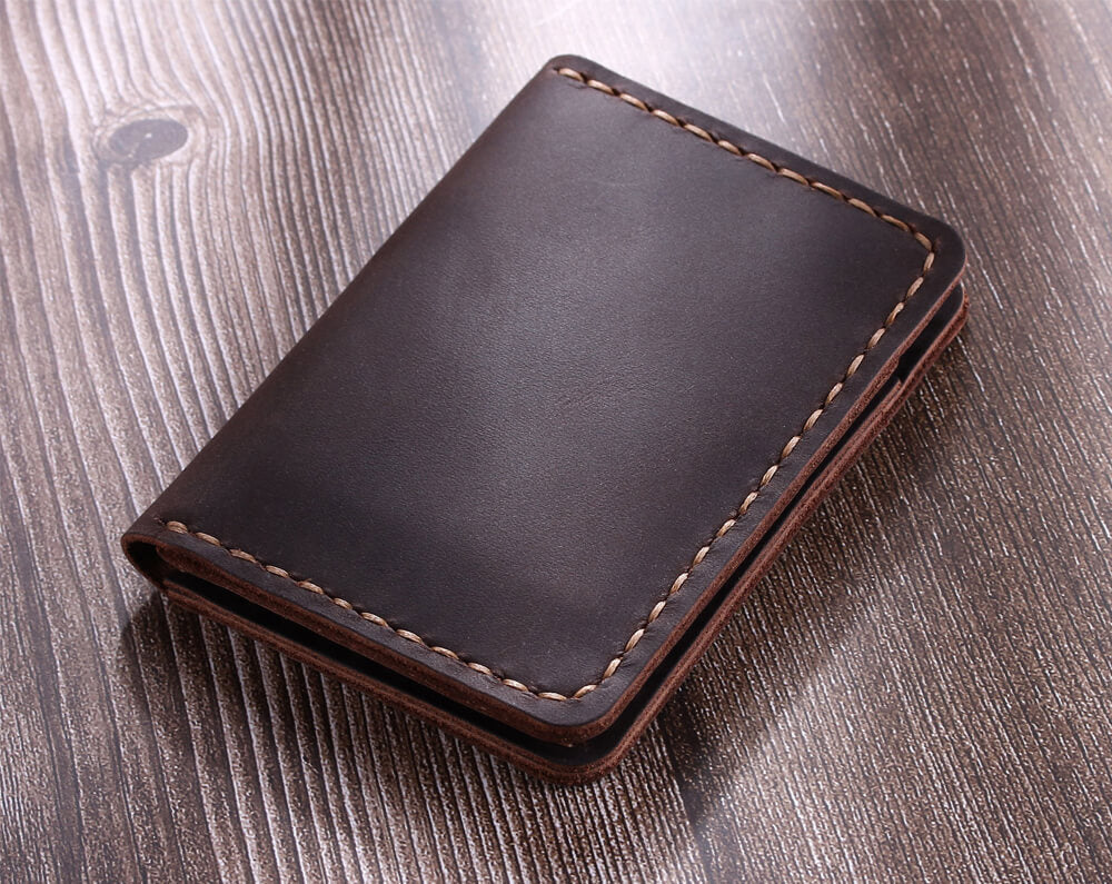 c5514b0d4afa Handcrafted Leather Bifold Card Wallet - Robrasim