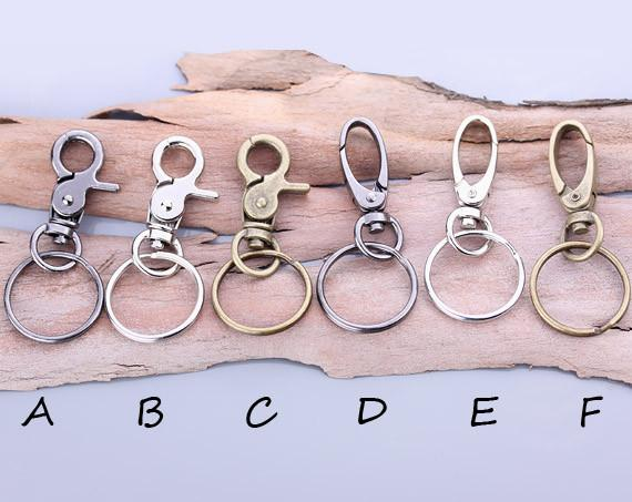 customizable leather keychain