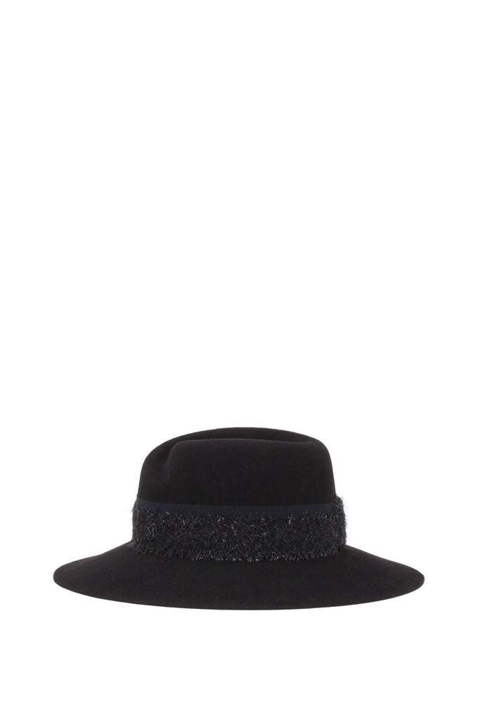 Maison Michel - Virginie Rabbit Felt Balck Hat