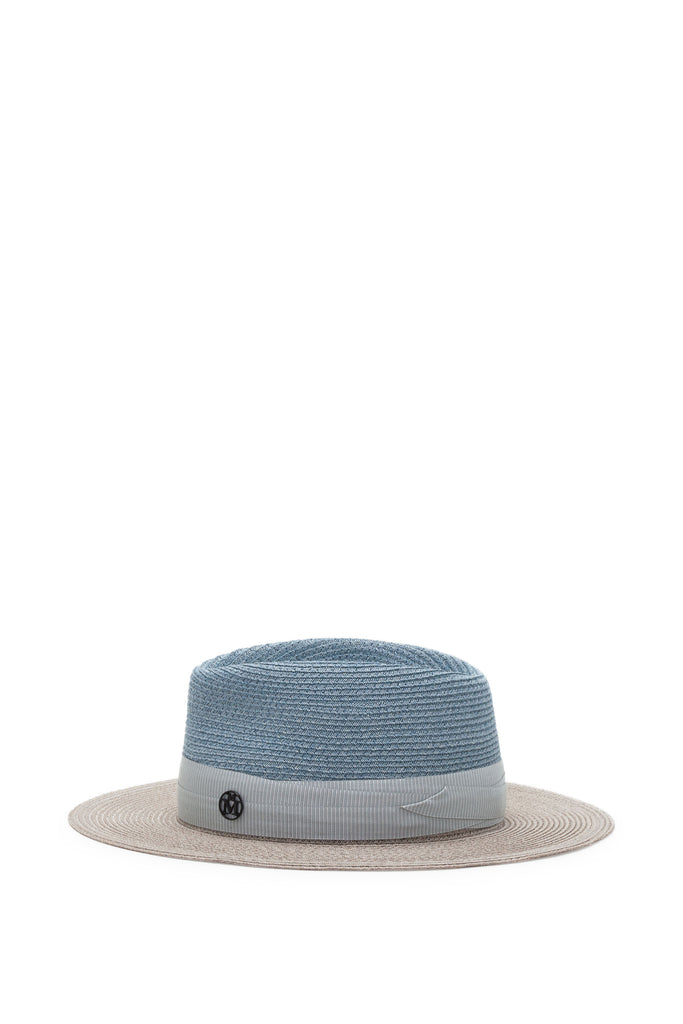 Maison Michel - Thadee Boyish True Hemp Blue & White Chalk Hat