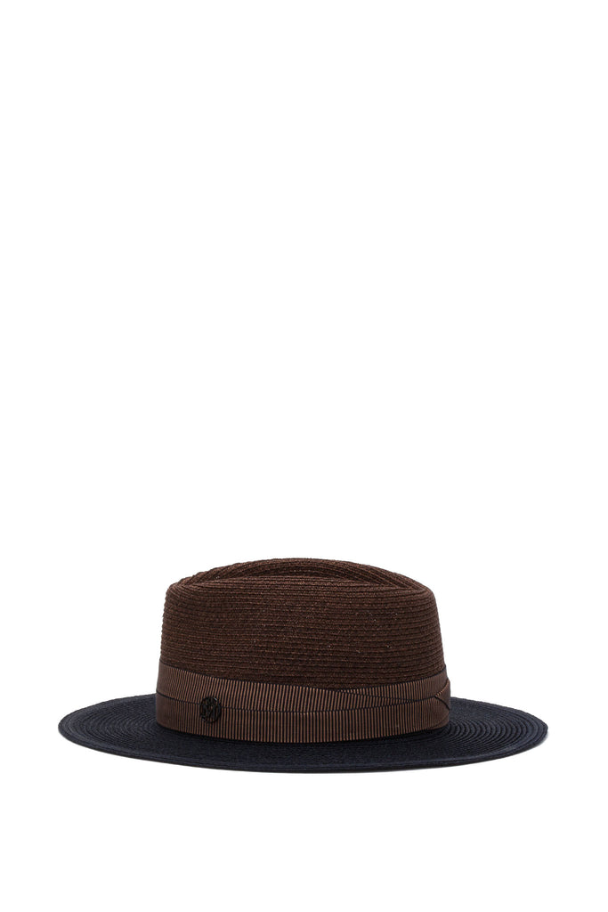 Maison Michel - Thadee True Hemp Dark Camel & Capitan Navy Hat