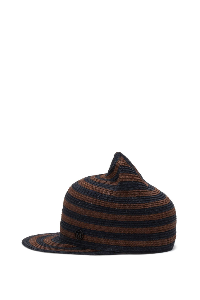 Maison Michel - Jamie Dark True Hemp Camel & Capitan Navy Hat