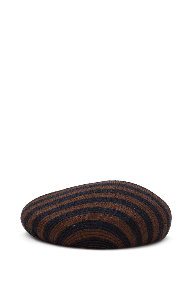 Maison Michel - Bonnie True Hemp Dark Camel & Capitan Navy Hat