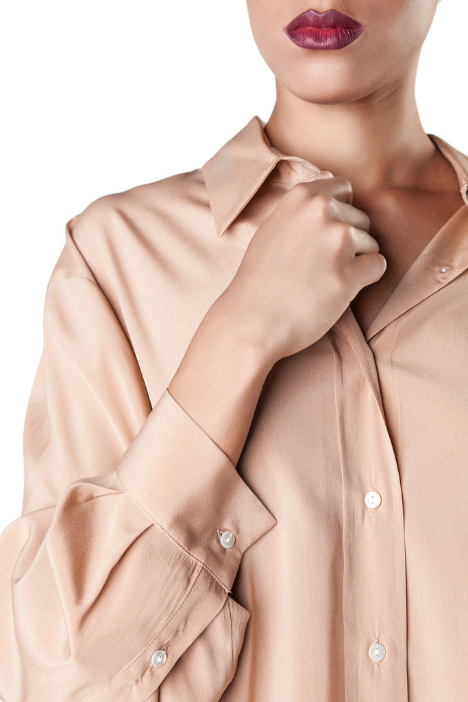 Mr. & Mrs. Shirt - Beige Silk Shirt