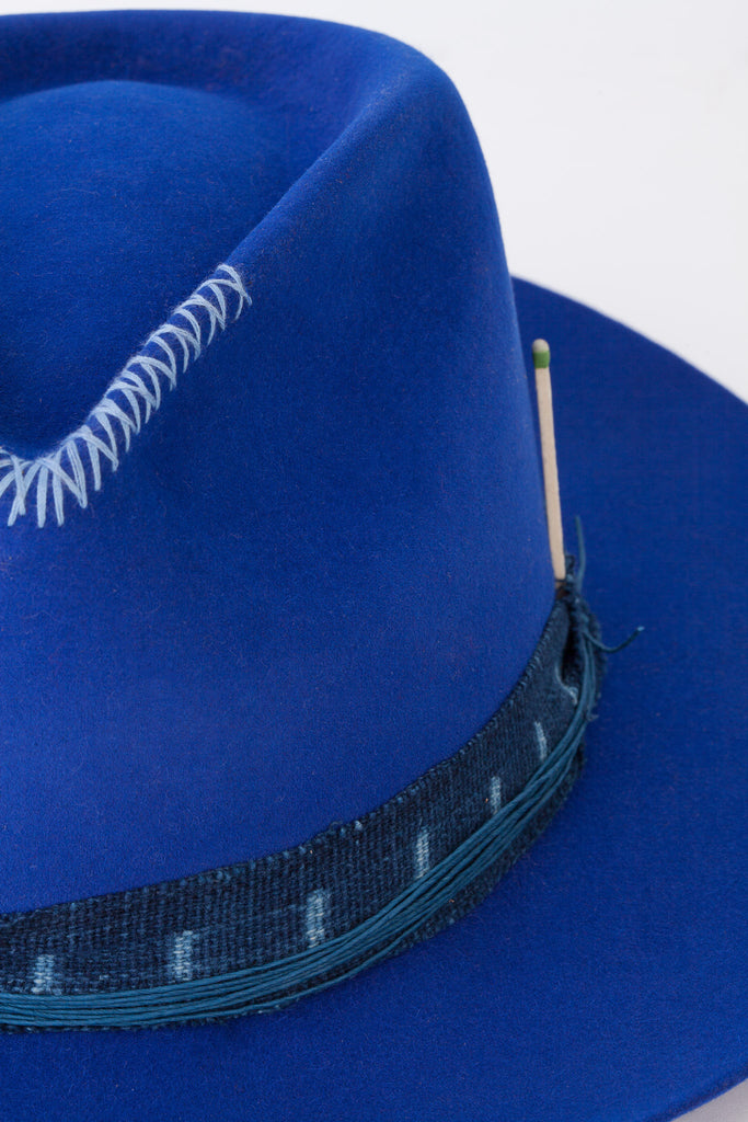 Nick Fouquet - Blue Hat with Dark Blue Hatband