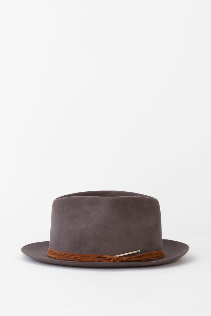 Nick Fouquet - Grey Hat with Brown Cord Hatband