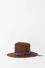 Nick Fouquet - Brown Hat with Blue Interlaced Leather Hatband