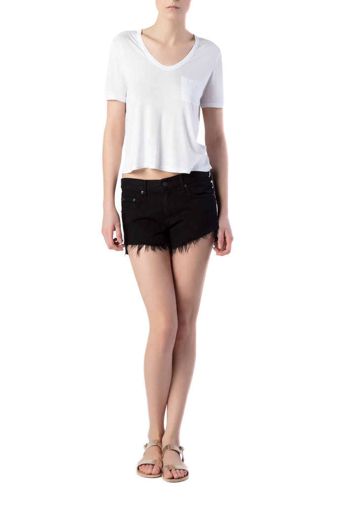 T by Alexander Wang - Classic White T-Shirt with Chest Pocket