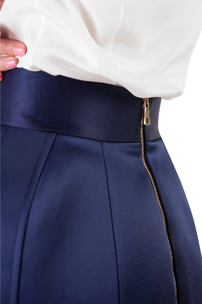 Balmain - Blue Mini Skirt
