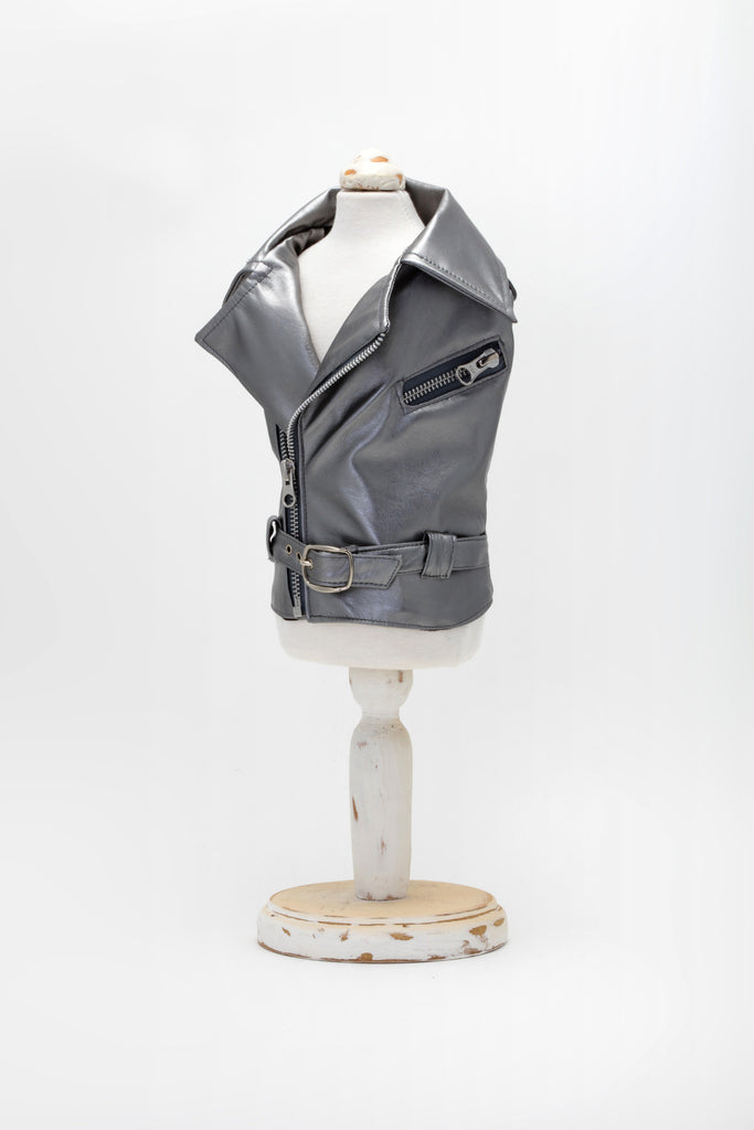Angelina & Co. - Silver Biker Jacket