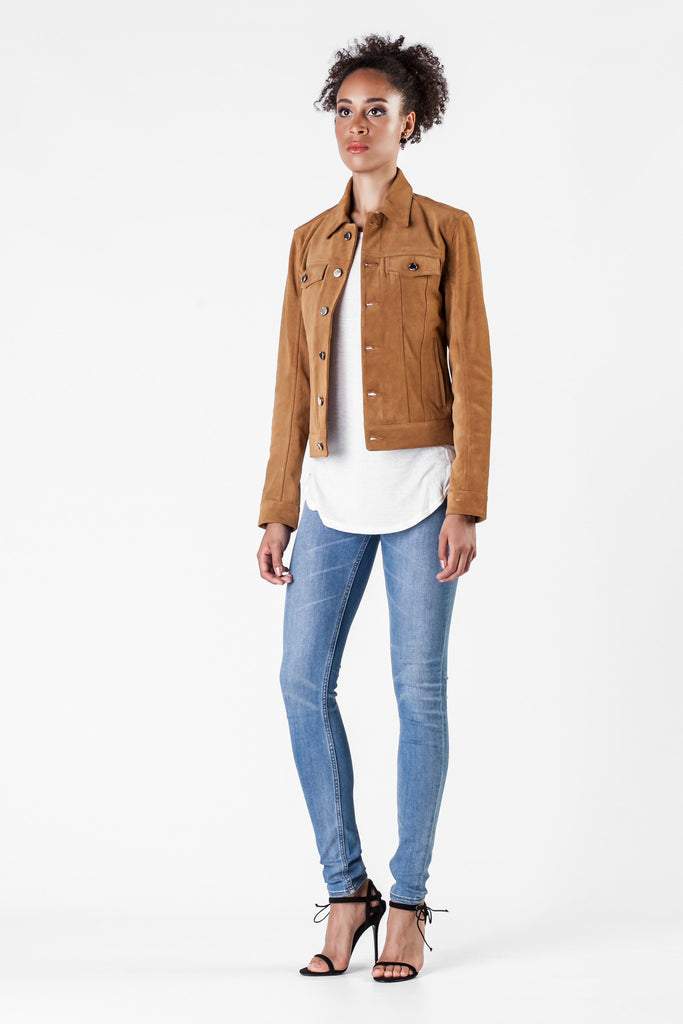 BLK DNM - Brown Leather Jacket