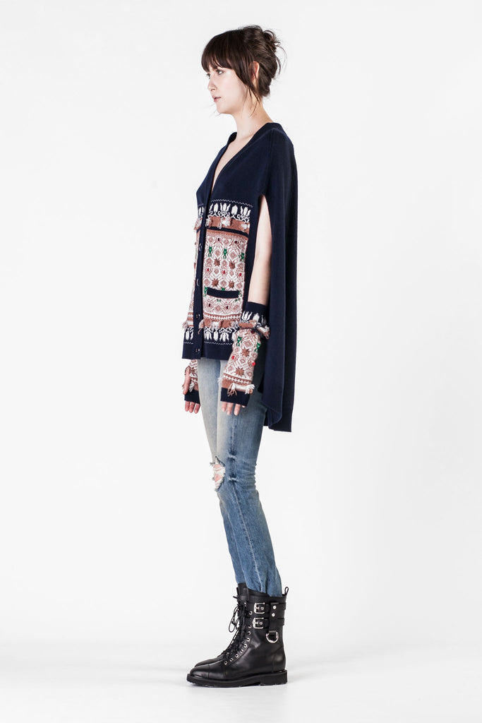 Barrie - Blue Space Pattern Cardigan