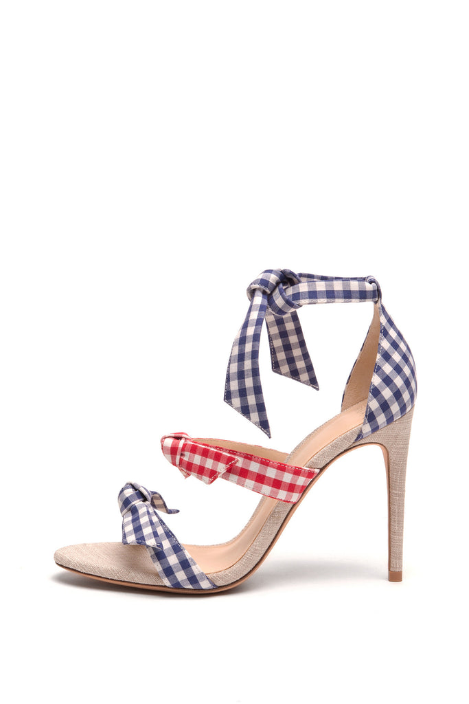 Alexandre Birman - Mary 100 Blue and Red Squared Sandals