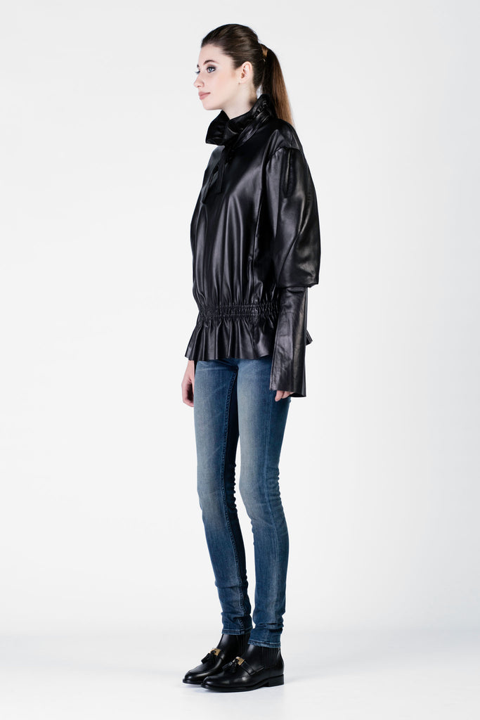 DROMe - Black Leather Top