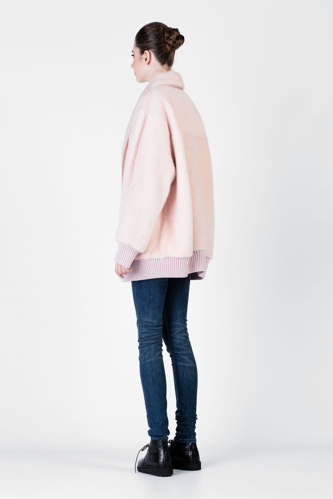DROMe - Pink Leather Jacket