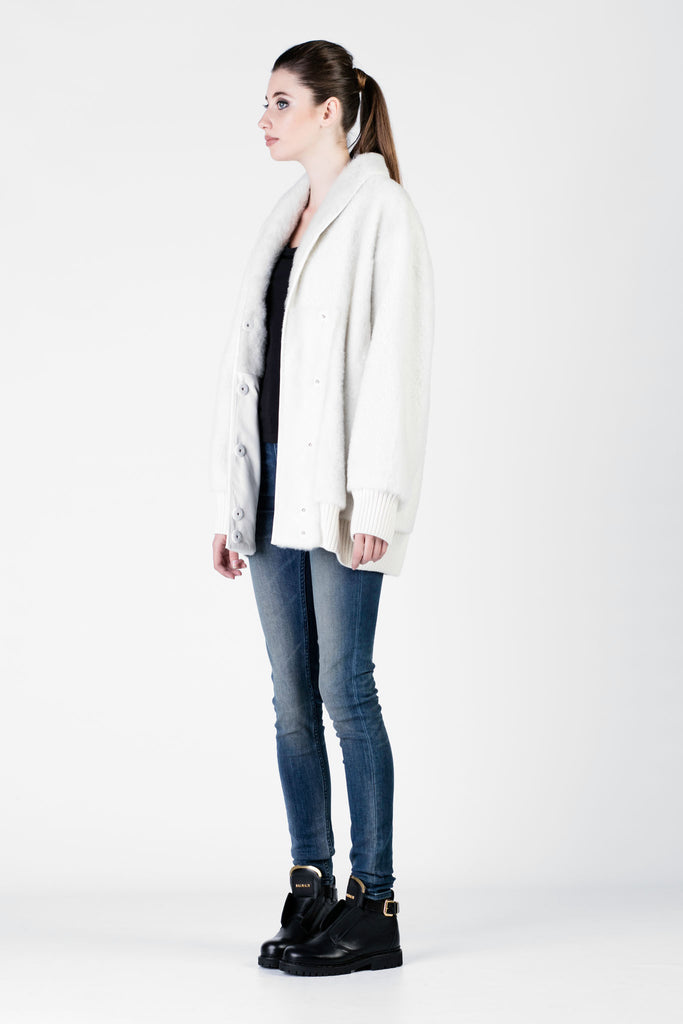 DROMe - White Leather Jacket