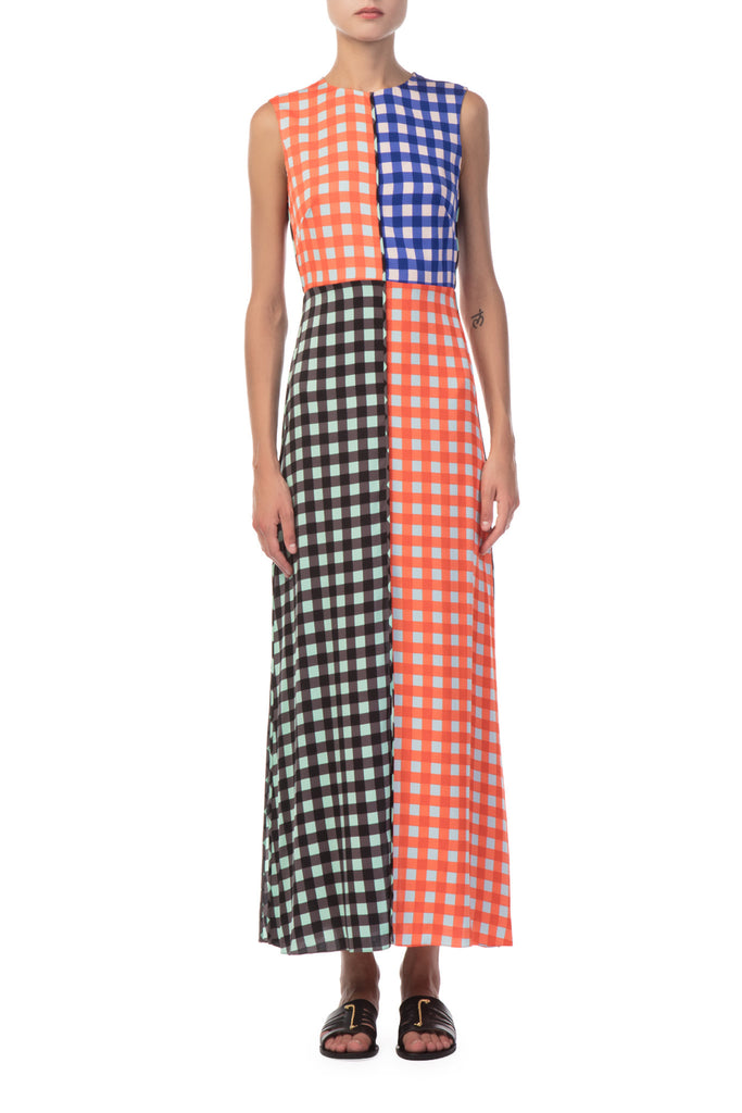 Diane Von Furstenberg - Sleeveless High Neck Flare Dress