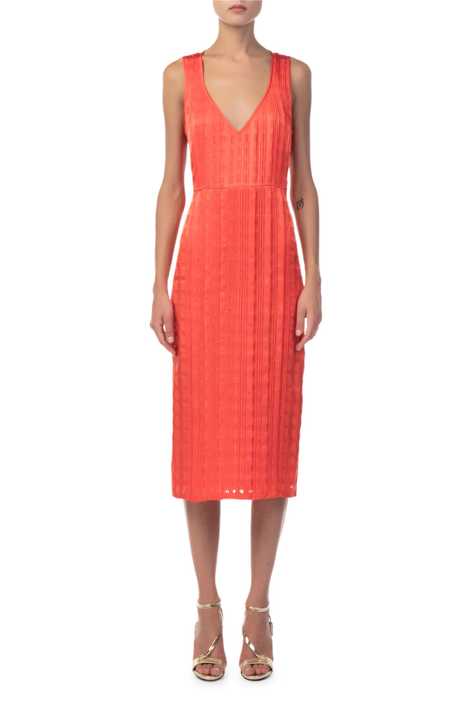 Diane Von Furstenberg - Sleeveless V-Neck Tailored Midi Dress