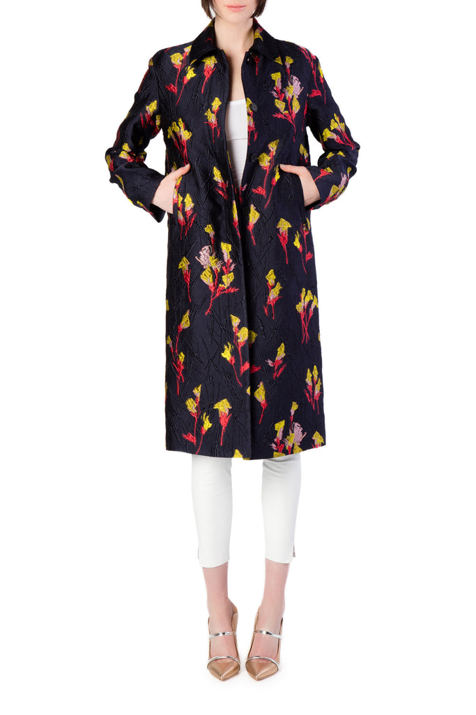 Jason Wu - Blue Floral Maxi Coat