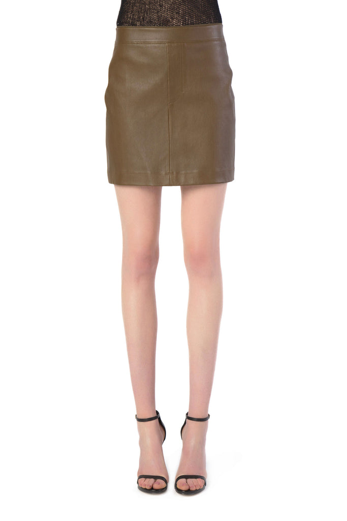 Helmut Lang - Leather Copper Mini Skirt
