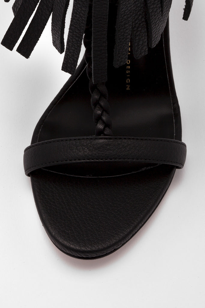 Giuseppe Zanotti - Black Sandals with Buckle