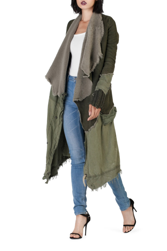 Greg Lauren - Shearling/Tent Nomad Green Coat