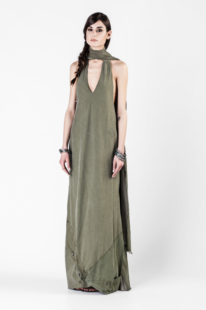 Greg Lauren - Army Tent Desert Goddess Dress