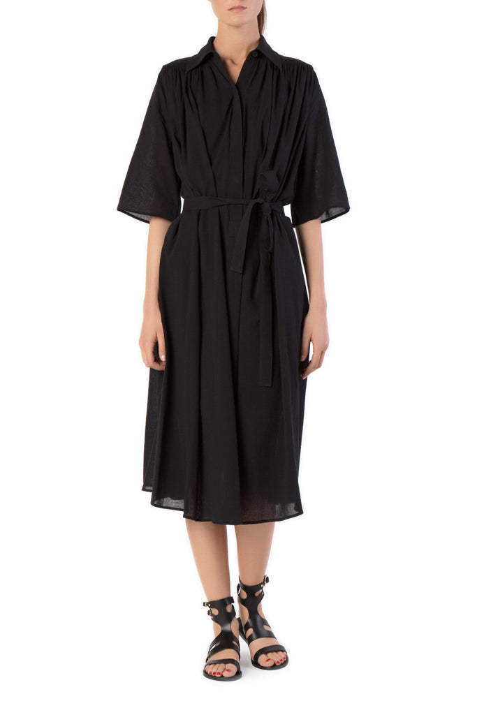 Helmut Lang - Black Sleeved Maxi Dress