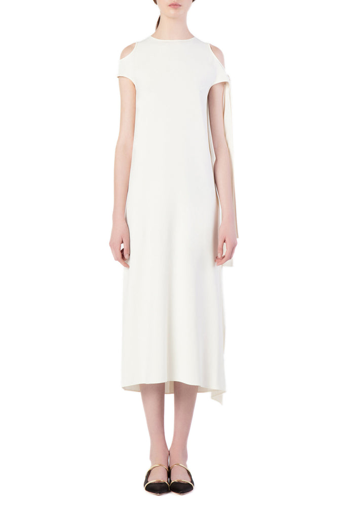 Helmut Lang - White Off-Shoulder Maxi Dress
