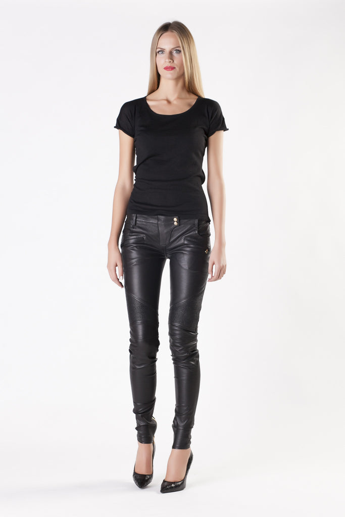 Balmain - Lamb Leather Black Pants