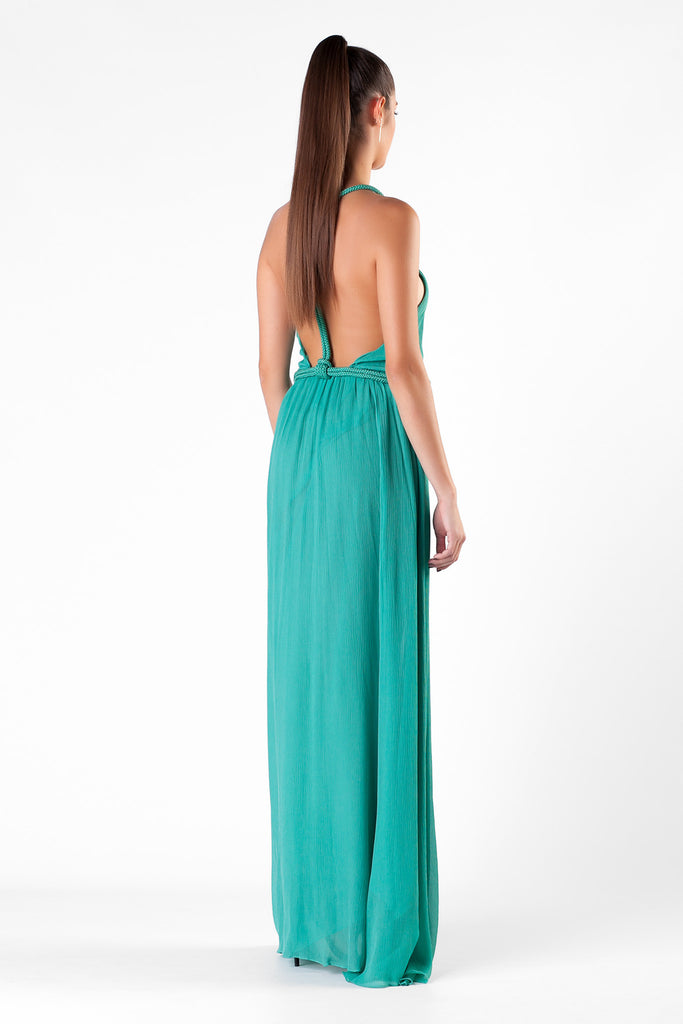 Jay Ahr - Silk Tourquoise Long Dress