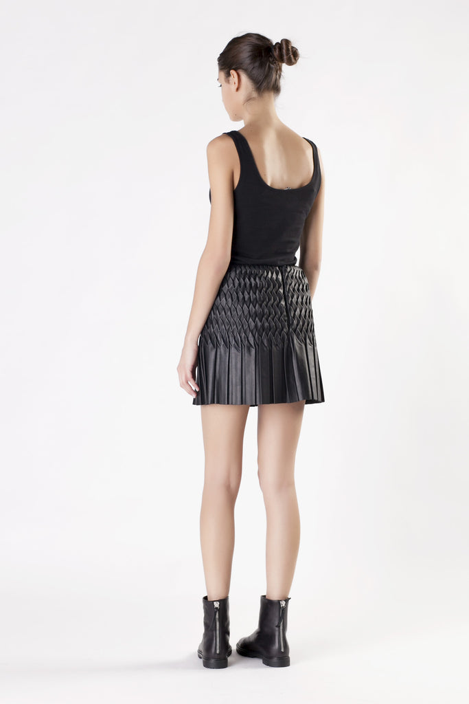 Jay Ahr -  Leather Black Skirt