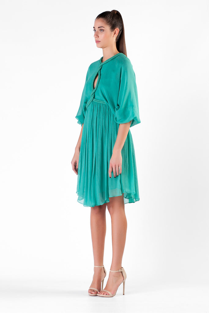 Jay Ahr - Silk Tourquoise Dress
