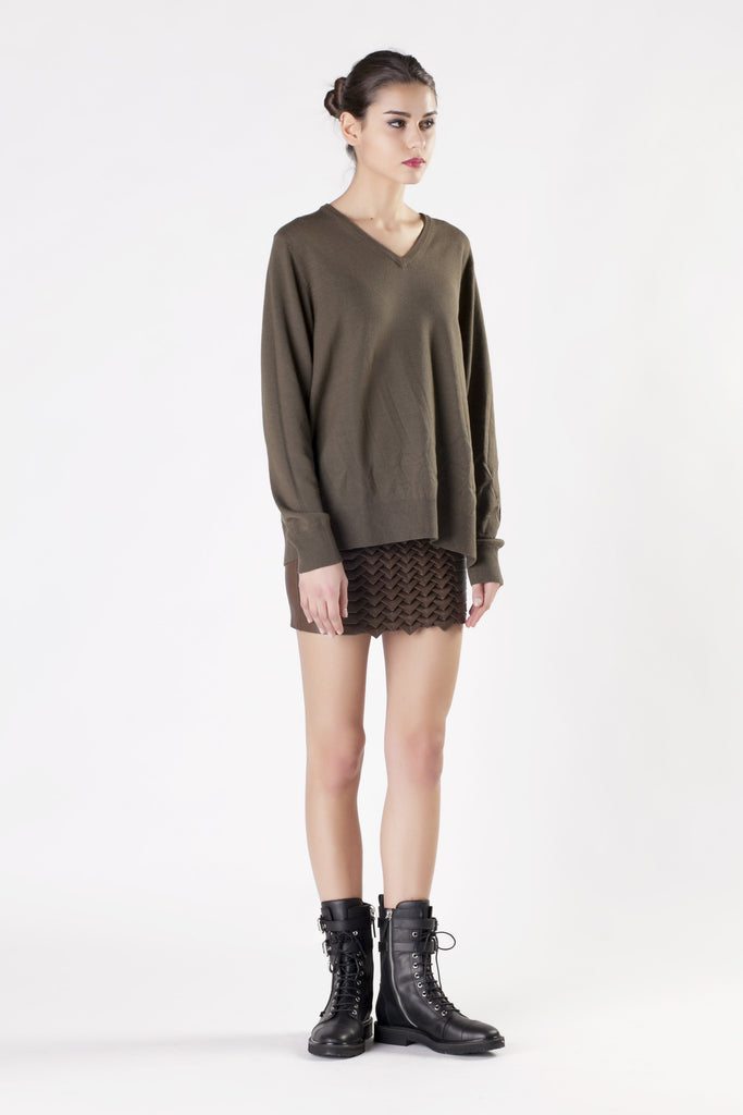 Jay Ahr - Green V-Neck Sweater