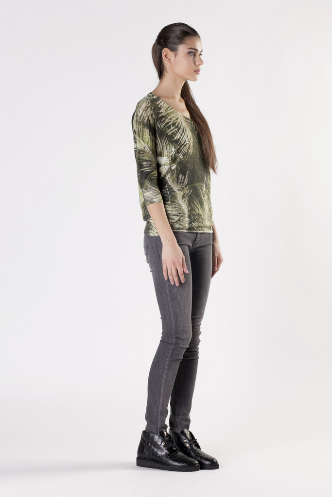 Leetha - Jungle Print Top