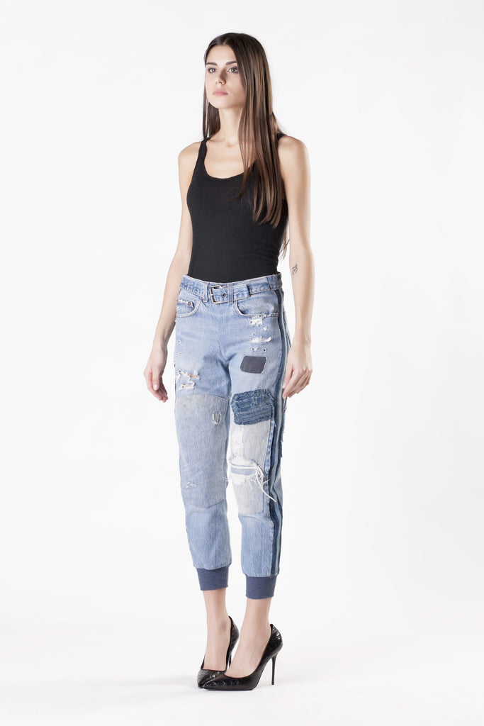 Greg Lauren - Patched and Destroyed Jeans