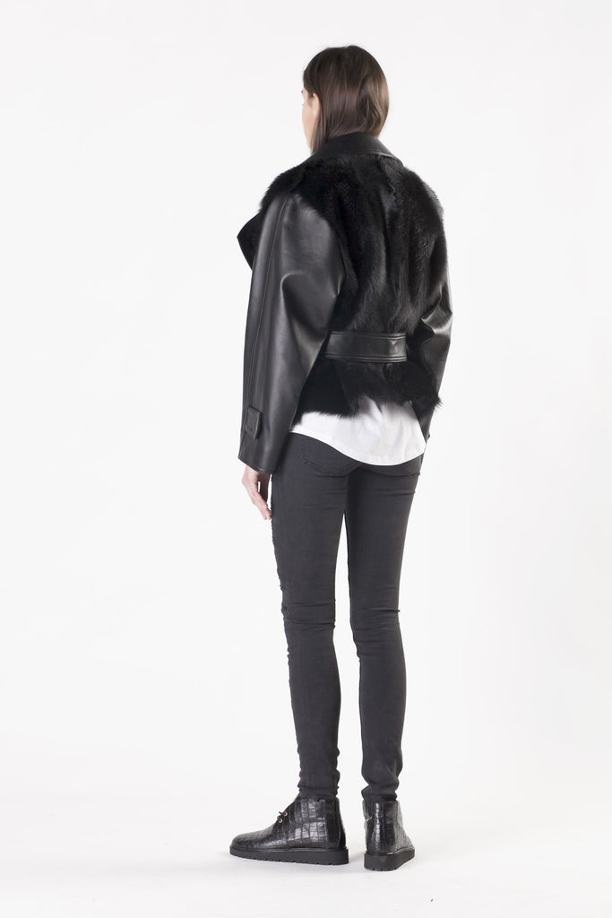 Balmain - Lamb Skin Black Jacket